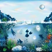Link toPretty underwater world element vector 03