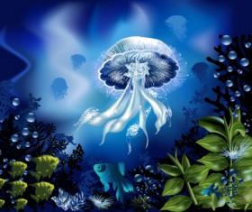 Pretty Underwater World element vector 04