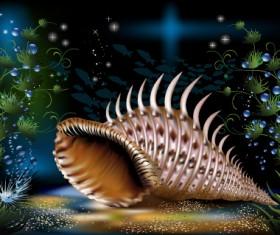 Pretty Underwater World element vector 05