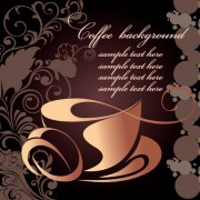 Link toCreative coffee art backgrounds vector 04