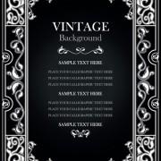 Link toSet of vintage frame background vector 01