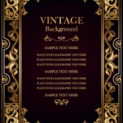 Link toSet of vintage frame background vector 03