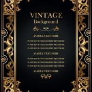 Link toSet of vintage frame background vector 04