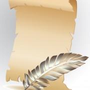 Link toVintage parchment scroll design vector graphics 01