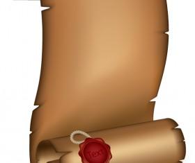 Vintage parchment scroll design vector graphics 03