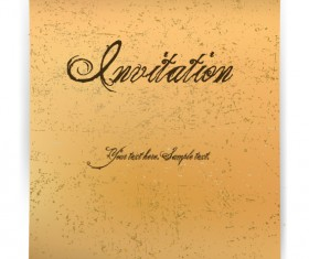 Vintage parchment scroll design vector graphics 04