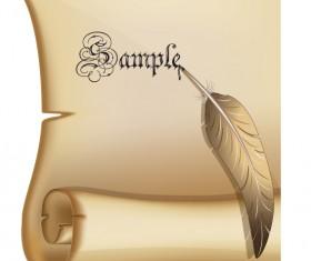 Vintage parchment scroll design vector graphics 06