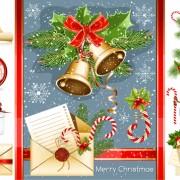 Link toVivid christmas decor elements vector graphics 03