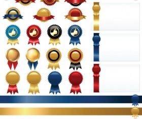 Set of Wax Seal And Award design elements vector 01