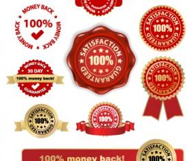 Set of Wax Seal And Award design elements vector 02