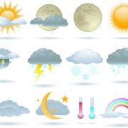 Link toDifferent weather icons vector set 01