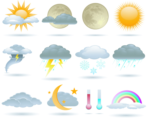Different weather icons vector set 01 other icons vector icons free
