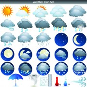 Link toDifferent weather icons vector set 02