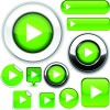 Web design elements Buttons and stickers vector set 02