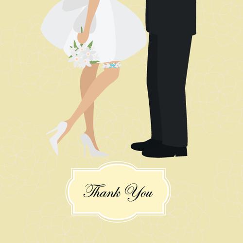 Set of Wedding Invitation cards elements vector graphics 01