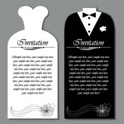 Link toSet of wedding invitation cards elements vector graphics 02