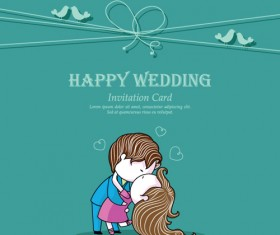 Set of Wedding Invitation cards elements vector graphics 05