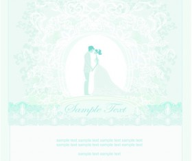 Shallow color Wedding backgrounds art vector 01