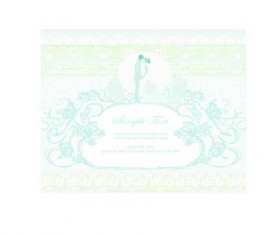 Shallow color Wedding backgrounds art vector 02