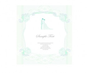 Shallow color Wedding backgrounds art vector 03