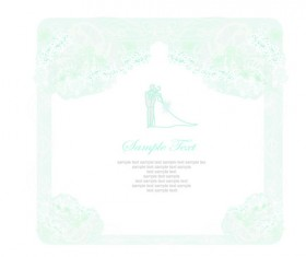 Shallow color Wedding backgrounds art vector 05