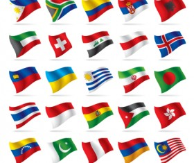 Different World Flags elements vector 03