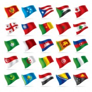 Link toDifferent world flags elements vector 04
