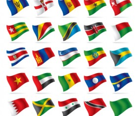 Different World Flags elements vector 05