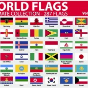 Link toVarious of world flags vector set 01
