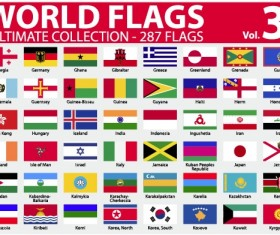 Various of World flags vector set 01