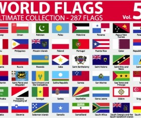 Various of World flags vector set 02