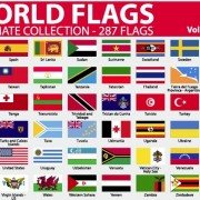 Link toVarious of world flags vector set 03