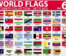 Various of World flags vector set 03