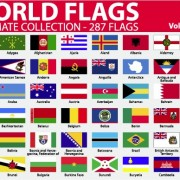 Link toVarious of world flags vector set 04