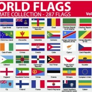 Link toVarious of world flags vector set 05
