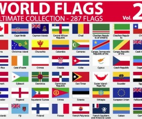 Various of World flags vector set 05