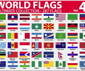 Various of World flags vector set 06