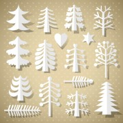 Link toSet of christmas trees design elements vector 03