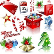 Link toDifferent xmas decorations vector material 01