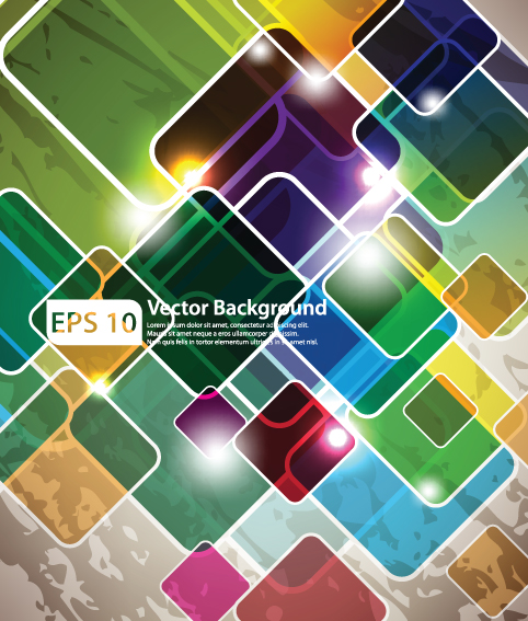 Colorful of abstract background art vector material 01