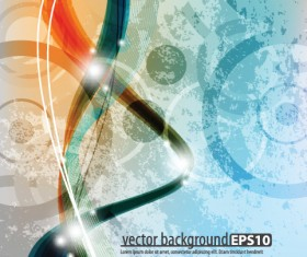 Colorful of abstract background art vector material 02