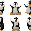 Funny penguins design elements vector 02
