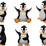 Link toFunny penguins design elements vector 02
