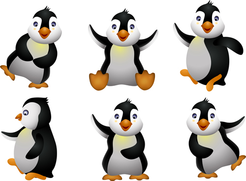 Funny penguins design elements vector 02 - Vector Animal free download