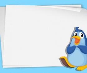 Funny penguins design elements vector 03