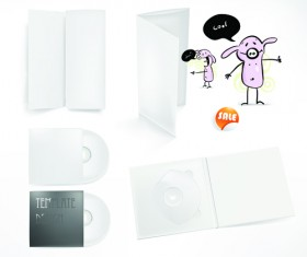 Set of White box DVD design vector graphics 01