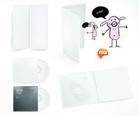 Set of White box DVD design vector graphics 01