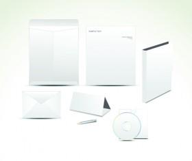 Set of White box DVD design vector graphics 02
