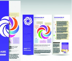 Set of business brochure cover vector 01