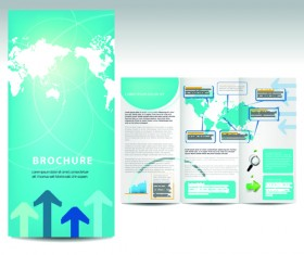 Set of business brochure cover vector 02